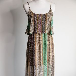 Altar'd State Patterned Maxi Dress (Size S)
